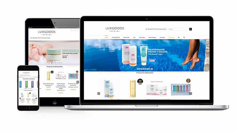 Web Luxurious-Goods responsive